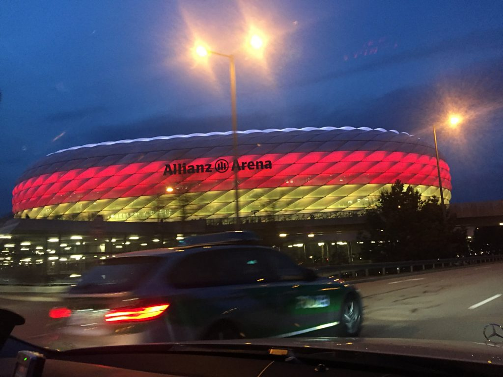 Die Allianz-Arena in München - auch hier wird die Fußball EM 2020 stattfinden.