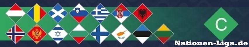 Die Teilnehmer der Nationenliga Liga C
