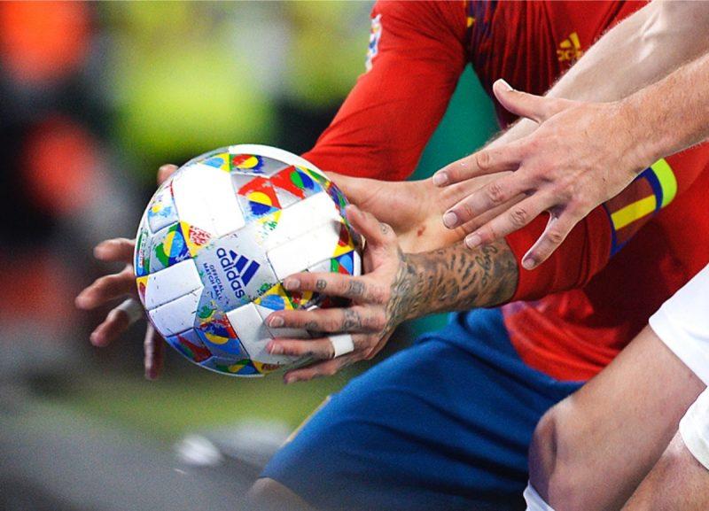 Nationenliga Finale: Final Four mit Halbfinale und Finale: Der adidas Spielball der UEFA Nations League - der Ball wird beim Finale im Juni 2018 zum Esinatz kommen. Photo by CRISTINA QUICLER / AFP)