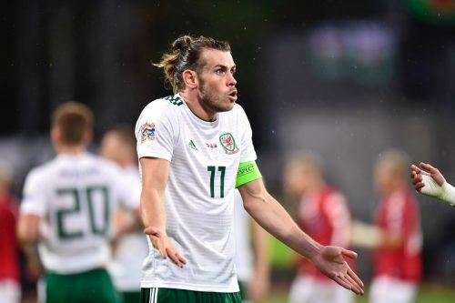 Gareth Bale aus Wales beim Nations League gegen Dänemark am 9. September 2018. (Photo by Bo Amstrup / Ritzau Scanpix / AFP) / Denmark OUT